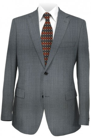 Hugo Boss Gray Herringbone Tailored Fit Suit #50331103-415