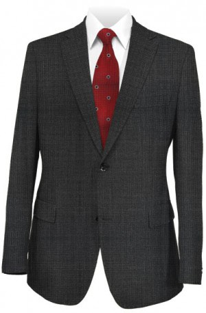 Hugo Boss Charcoal Micro-Check Tailored Fit Suit #50375386-015