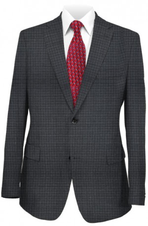 """""""The Fashion Resolution"""" Gray Pattern Slim Fit Suit from Hugo Boss 50383620-010"""
