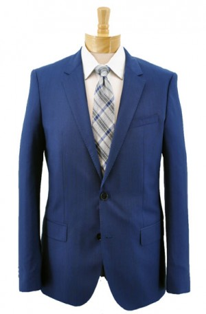 """Bold Blue"" Slim Fit Suit from Hugo Boss #50384101-461"