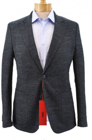 """Three-C's No-Pattern Pattern"" Navy Slim Fit Sportcoat from Hugo Boss #50384514-410"
