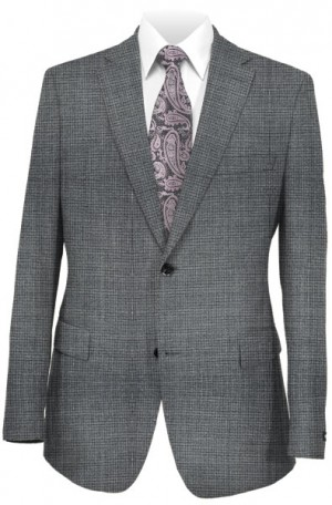 Hugo Boss Gray Check Tailored Fit Suit #50394394-081