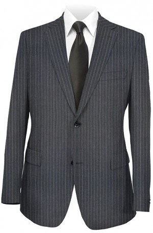 Rubin Gray Pinstripe Gentleman's Cut Suit 50697