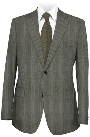 Rubin Medium Gray Pinstripe Tailored Fit Suit 50864