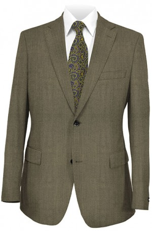Rubin Brown Sharkskin Classic Fit Suit #50893