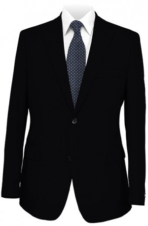Rubin Black Gentleman's Cut Suit with Pleat Front Pants #51320-2B