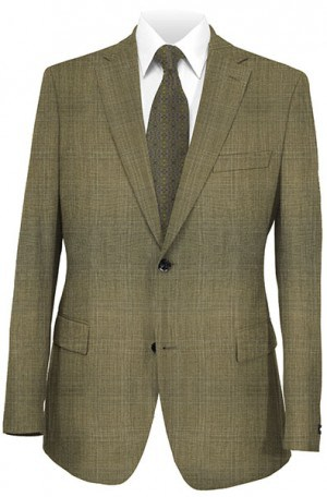 Rubin Tan Plaid Gentleman's Cut Suit 51643