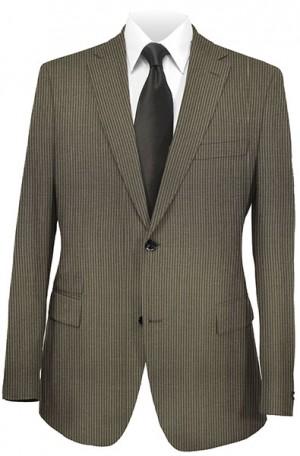 Rubin Slim Fit Brown Stripe Suit #51812