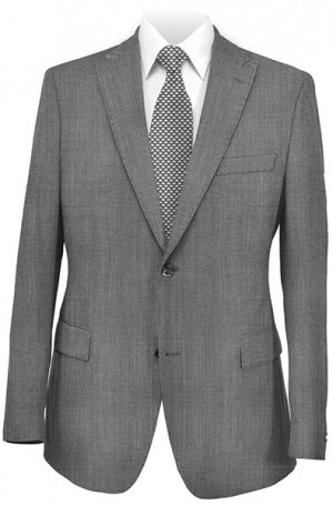 Rubin Slim Fit Gray Sharkskin Suit 51814