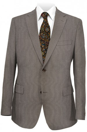 Rubin Slim Fit Brown Fineline Suit 51883
