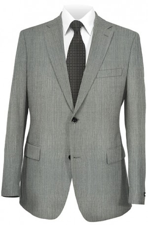 Rubin Light Gray Stripe Slim Fit Suit 51964