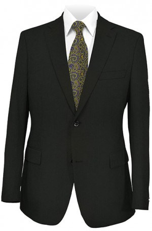 JonesNY Black Solid Color Suit #52001-2B