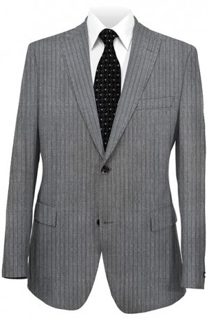 Rubin Medium Gray Stripe Gentleman's Cut Suit 52004-PK