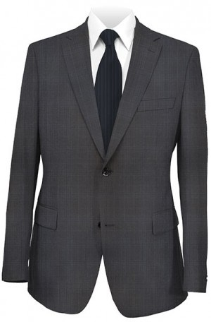 Rubin Black Pattern Tailored Fit Suit 52040