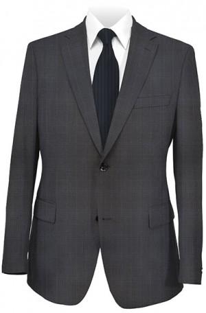 Rubin Black Pattern Tailored Fit Suit #52040