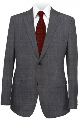 Rubin Charcoal Windowpane Gentleman's Cut Suit 52079