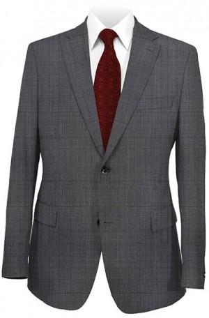 Rubin Charcoal Windowpane Gentleman's Cut Suit #52079