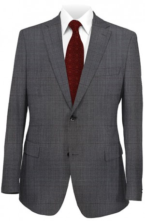 Rubin Charcoal Windowpane Classic Fit Suit #52079