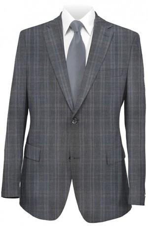 Rubin Gray Windowpane Gentleman's Cut Suit 52114