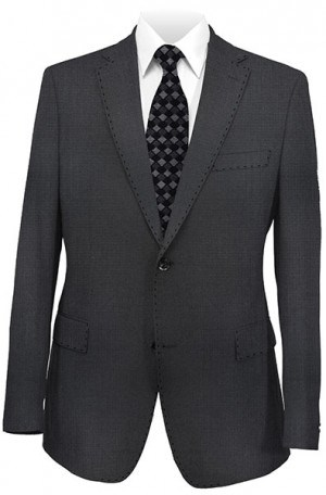 Rubin Black Fine Check Gentleman's Cut Suit 52120