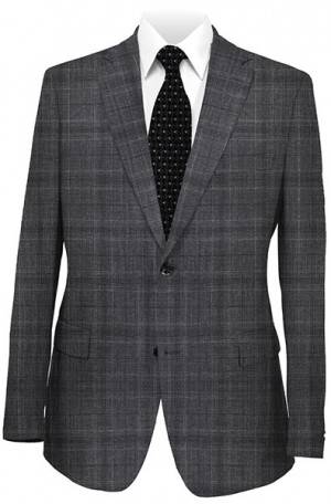 Rubin Charcoal Pattern Classic Fit Suit 52134