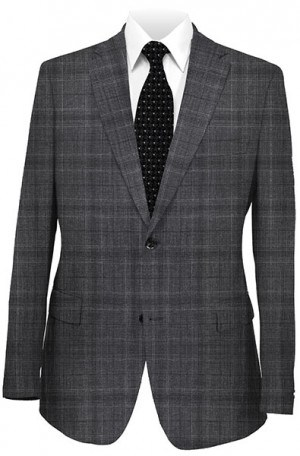 Rubin Charcoal Pattern Gentleman's Cut Suit 52134