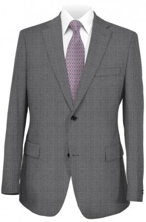 Rubin Gray Pattern Tailored Fit Suit #52144