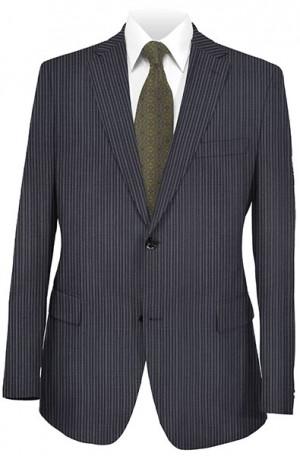 Rubin Navy Stripe Gentleman's Cut Suit #52194