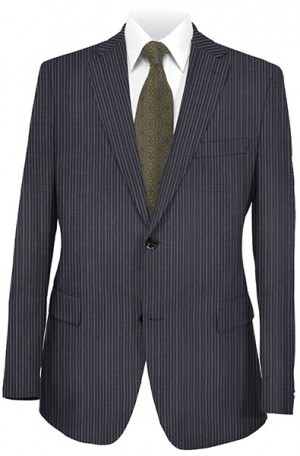 Rubin Navy Stripe Gentleman's Cut Suit #52194
