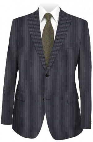 Rubin Navy Stripe Gentleman's Cut Suit 52194