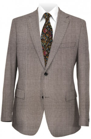 Rubin Taupe Pattern Tailored Fit Suit 52298
