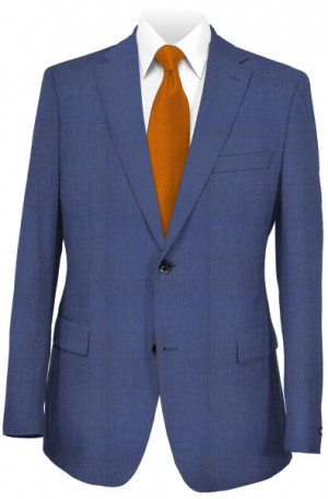 Rubin Blue Micro-Check Slim Fit Suit #52386