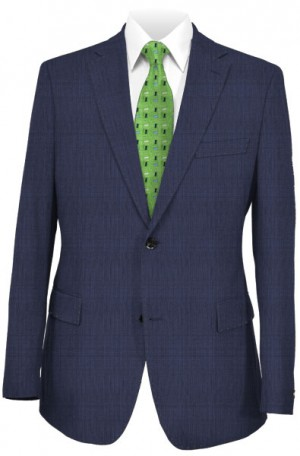 Rubin Navy Quiet Pattern Tailored Fit Suit #52406