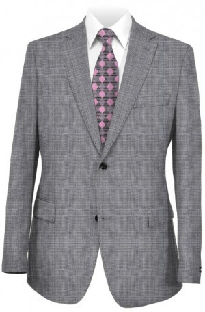 Rubin Gray Plaid Tailored Fit Suit 52414