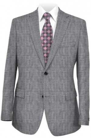 Rubin Gray Plaid Tailored Fit Suit #52414