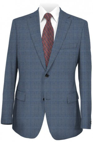 Rubin Blue Windowpane Tailored Fit Suit 52437