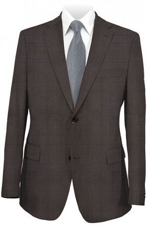 Rubin Brown Windowpane Classic Fit Suit #52473