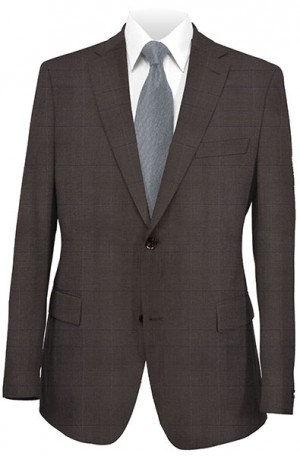 Rubin Brown Windowpane Gentleman's Cut Suit 52473