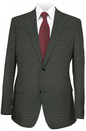 Rubin Gray Hairline Stripe Tailored Fit Suit #52740
