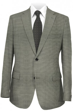 Rubin Gray Tick Weave Classic Fit Suit #52854