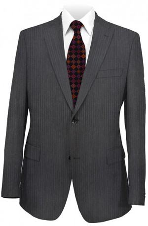 Rubin Black Tonal Stripe Classic Fit Suit #52869