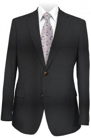 Pal Zileri Black Solid Color Tailored Fit Suit #53022-20