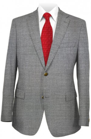 Pal Zileri Medium Gray Tailored Fit Suit #53022-22