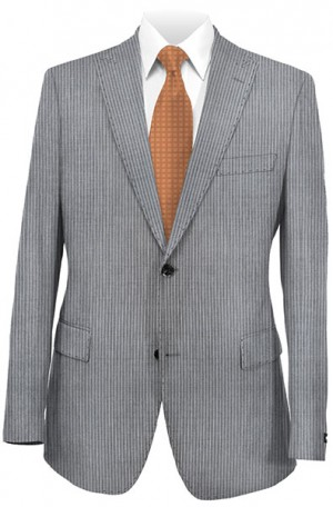 Rubin Gray Stripe Slim Fit Suit #53187
