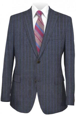 Pal Zileri Gray Stripe Tailored Fit Suit #53507-25