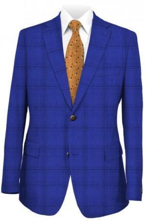 Pal Zileri Blue Windowpane Tailored Fit Suit #53554-09