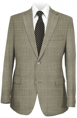 ItalUomo Tan Pattern Suit #55329-2