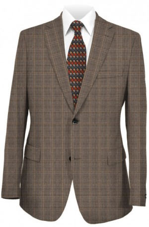 Rubin Taupe Check Tailored Fit Suit 56203