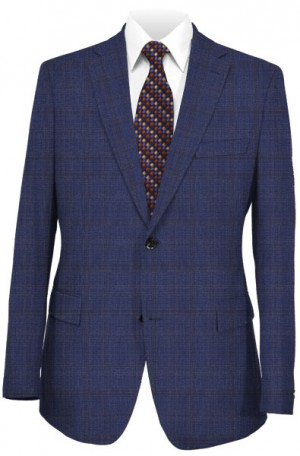 Rubin Blue Plaid Tailored Fit Suit 56496