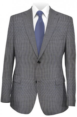 Cardin Gray Pattern 'Executive-Portly' Fit Suit #595901P